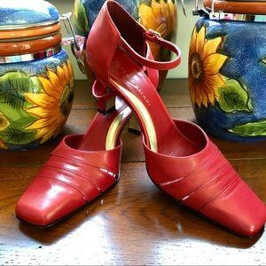 Antonio Melani Red Leather Heels